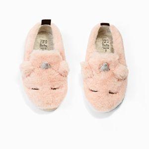 Zara Baby NWT Furry Unicorn Sneakers